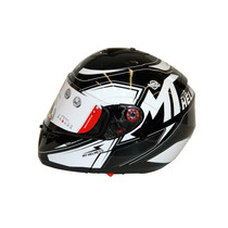 Casco Abatible Mt Helmets Optimus Falcon Negro Blanco