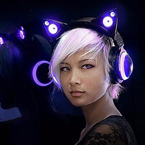 Nuevos Audifonos Oreja De Gato Cat Ear Headphones