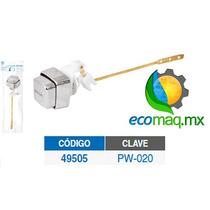 Boton Cromado Plastico Para Baño Wc Foset 49505 Ecomaqmx