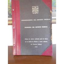 Planos Del Distrito Federal 1975 Tesoreria Del Df
