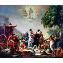 Lienzo Tela El Milagro Del Pocito Arte Sacro 50x55