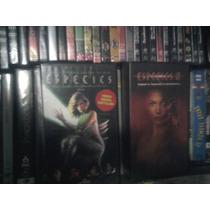Lote De 2 Vhs Películas Especies 1 Y 2 Terror Extraterrestre