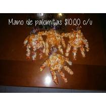 Dulceros En Forma De Mano Con Palomitas