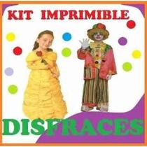 Kit Imprimible Disfraces Infantiles Moldes Patrones Diseños
