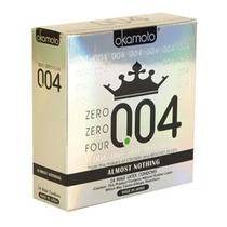 6 (seis) Condones Okamoto 0.04 Zero Zero Four Preservativos