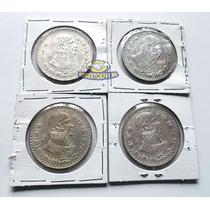 Lote 4 Monedas 1 Peso Morelos De Plata