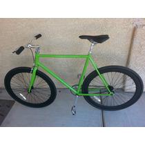 Bicicleta Fixie Verde/negro 700cc X 28... Nueva