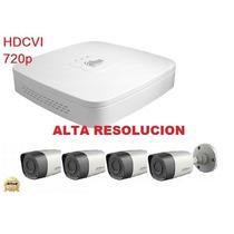 Kit Hd 720p Dvr Y 4 Camaras Hdcvi Videovigilancia Cctv
