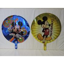Globos Mickey Mouse Fiestas 5 Pz Metálicos Helio 18 Pulgadas