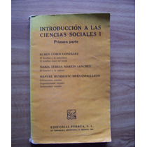 Introducción A Las Ciencias Sociales-ruben Cobos-porrúa-vbf