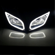 Tira Led Luz Drl Tipo Audi Blanco/amarillo Azul/amarillo Vv4