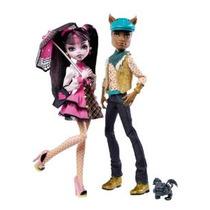 Monster High Draculaura Y Clawd Lobo Doll Giftset