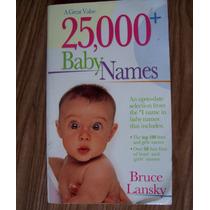25,000 Nombres De Bebés-en Inglés-aut-bruce Lansky-vbf