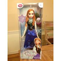 Muñeca Pelicula Frozen Anna 16 Canta Y Luz Disney Store