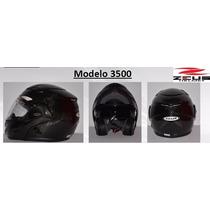 Casco Zeus 3500 Fibra De Carbón Negro Lg Md Xl