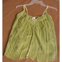 Vestido De 2 Piezas Verde Falda Larga Blusa Tirantes Gitana