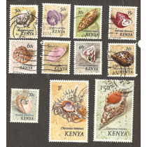 Estampillas De Kenya Caracoles Vbf