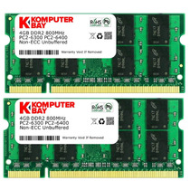 Memorias P/ Laptop Komputerbay 8 Gb (2 X 4gb) Pc2-6400 Ddr2