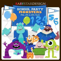 Kit Imprimible Monsters University 7 Imagenes Clipart