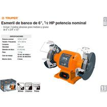 Esmeril De Banco De 6 1/2 Hp Truper Dizome