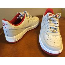 Nike Air Force One Gris/rojo Talla 25 Cm Originales