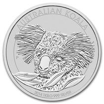 Australia 2014 Koala 1 Kilo Plata Pura .999 Con Cápsula.
