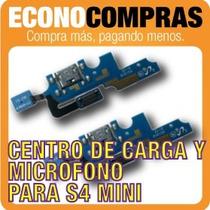Centro De Carga Y Micrófono Para Galaxy S4 Mini 100% Nuevo!!