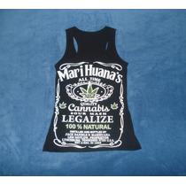 Blusa Camiseta Marihuana Jack Daniels Tennessee Whisky