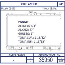 Radiador Mitsubishi Outlander 2.4 Lts 2003 2004 2005 2006