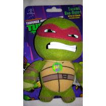 Llavero Tortugas Ninjas Peluche Que Habla! Importado