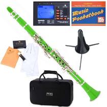 Clarinete Mendini Mct-e Verde Afinador + Accesorios Vv4