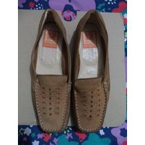 Comodos Zapatos Mocasines Damarichi 100% Gamuza Camel 4 Mex.