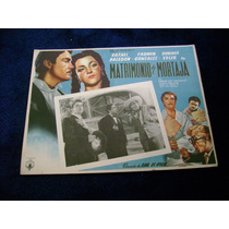 Matrimonio Y Mortaja Rafael Baledon Lobby Card Cartel