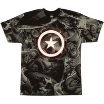 Capitan America Playera Mad-engine Talla Grande Adulto