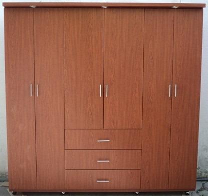 Hermoso closet ropero moderno minimalista 3 piezas for Closet en melamina modernos