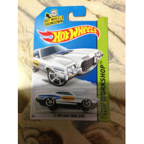 Hot Wheels 72 Ford Gran Torino Sport Blanco