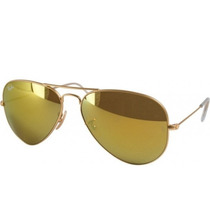 Lentes Ray Ban Gold Mirror Rb 3025 Gota Mediana