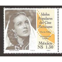 Estampilla Idolos Populares María Felix 1993 Vbf