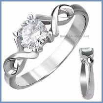 Infinito Anillo De Compromiso Diamante .35ct Oro 10k -50%