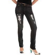 Hot Topic Pantalones Gises Tyte Black With Blue Tint Des T 7