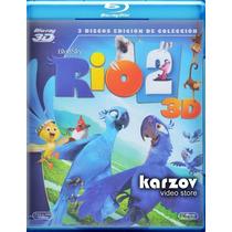 Rio 2 Dos , La Pelicula Animada Combo 3d + Blu-ray + Dvd
