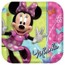 Fiesta De Minnie Mouse Platos Vasos Globos Vela Escenario