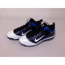 Nike Tachones Tacos Flywireairmax Blanco Con Negro Y Azul 15