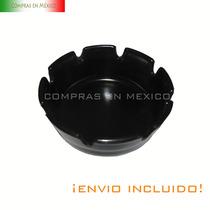 Cenicero Negro Apilable Caja Con 12 Piezas 10*4 Cm Vv4