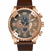 Cat Watches Grid 52mm Piel Acero Grande Sc19935129 Diego:vez