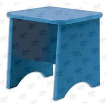 9121-h6 Banco Infantil Color Azul 100% De Madera De Diako