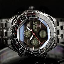 Reloj Shark Army Militar,alarma,cronometro,calendario Inoxid