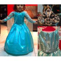 Vestido Elsa Y Anna Frozen Disney Princesas