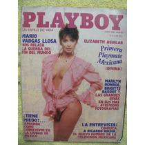 Revista Play Boy Elizabeth Aguilar Fotos Desnuda, Español