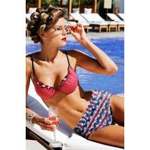 Bikini Vintage Retro,cintura Alta Push Up Estilo Pin Up